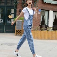 7834c404e9f9 Ladies Overalls Loose Ripped Jeans Womens Jumpsuit 2018 Summer Female Plus  Size Rompers Vintage Denim Jumpsuit