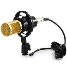 BM 800 Micrófono de la Computadora de 3.5mm Con Cable Condensador BM-800 Micrófono de Sonido Con Micrófono Montaje de Choque Para la Grabación Broadcasting