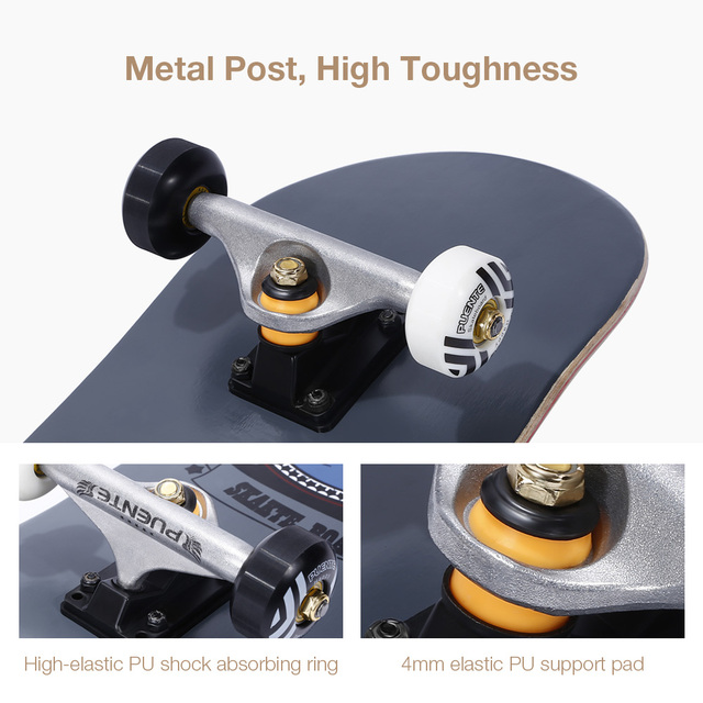 PUENTE 608 ABEC - 9 Adult Four-Wheel Skateboard Double Snubby Maple Skateboard 5 Inches Magnesium Aluminum Alloy Truck 3