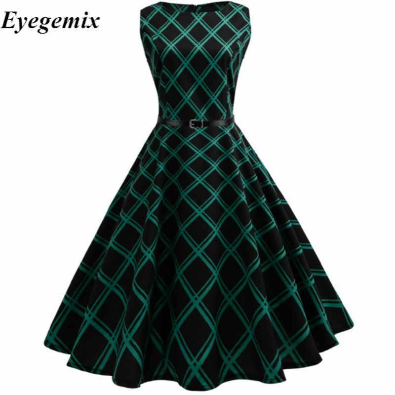 283839512db4 Eyegemix 2018 Womens Summer Dresses 50s 60s Robe Vintage Retro Pin Up Swing  Rockabilly Floral Print