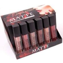 24 шт./лот, блеск для губ MISS ROSE, Матовая жидкая помада, Горячая сексуальная цветная краска для губ, матовая губная помада, водостойкая, стойкий блеск для губ