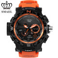 Race Sport Style Orange Youthful Vigor Manner Men Dual Display Watch With Speacial Metal Ring SMAEL Mode 1531