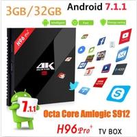 10pcs H96 Pro 3GB 32GB Android 6 0 TV Box Smart Set Top Box Amlogic S912