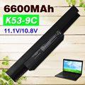 6600 mah batería para asus a43 k43 k53e k53u x53u x53s a53s x54h X84S A53 A53E K53J K53S K53SV X44 X43 X84 A32-K53 A41-K53 A43