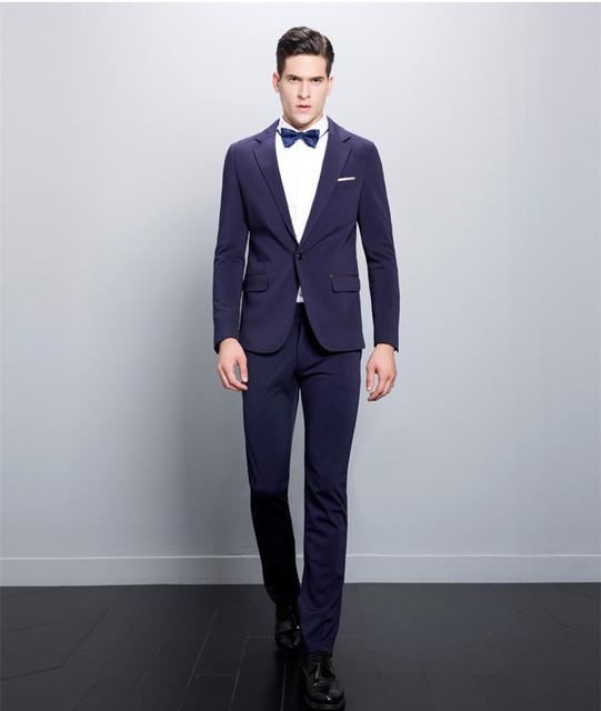 2017 Italian Design Slim Fit Purple Men Suits Handsome Best Man