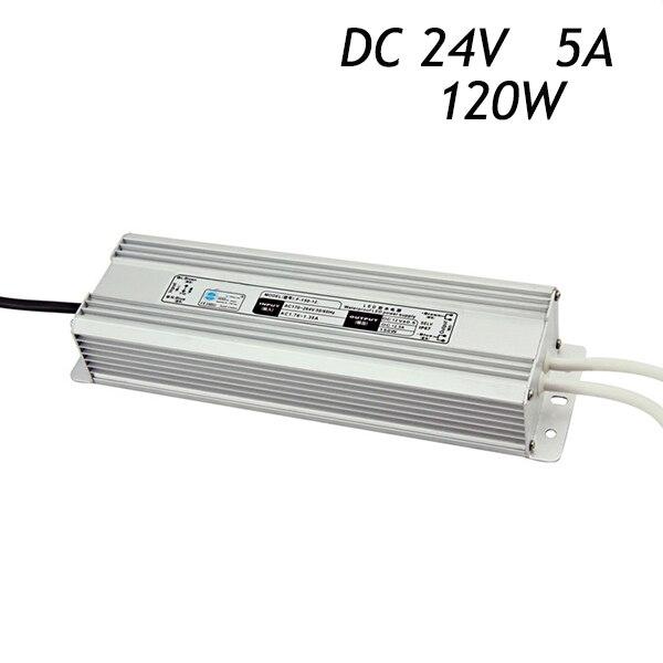 10 Pcs 24 V 5A 120 W Alimentation à découpage Pilote pour LED Bande 5050 3528 Étanche IP67 AC220-240V À DC Transformateurs
