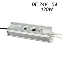 10Pcs 24V 5A 120W Switching Power Supply Driver for LED Strip 5050 3528 Waterproof IP67 AC220 240V To DC Transformers