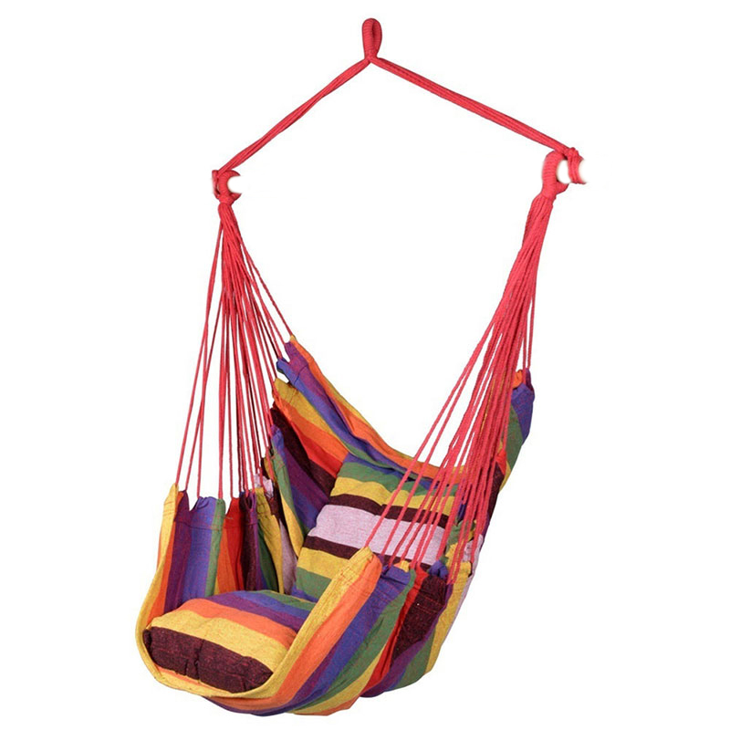 2019 NEW Multi-functional Portable Swing Chair Hammock Hanging Rope Chair Seat With 2 Pillows For Indoor Outdoor Garden Hot Sale