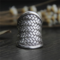 Silver Qi Ms Chiang Mai, Thailand Silver Braided Rings Men Do Old Silver Restoring Ancient Ways Ring