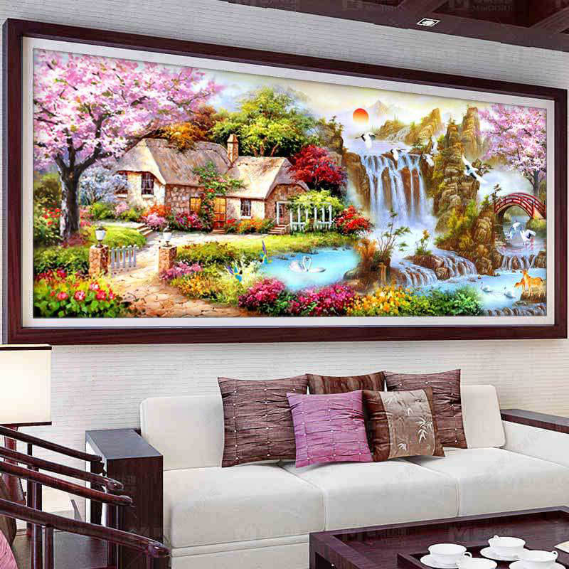 2019 New 5D Diy Diamond Embroidery Landscape Full Square /Round  Diamond Painting Nature Scenery Diamond Mosaic Home Decoration 2019 New 5D Diy Diamond Embroidery Landscape Full Square /Round  Diamond Painting Nature Scenery Diamond Mosaic Home Decoration