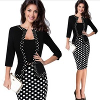 women black skirt suit summer fashion elegant half sleeve blazer skirt office Interview Slim temperament Work wear dress skirt