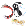 Zero Atraso Arcade Encoder USB para Joystick para MAME Multicade Encoder Teclado PC Jogos de Luta, USB para Jamma AC425 +