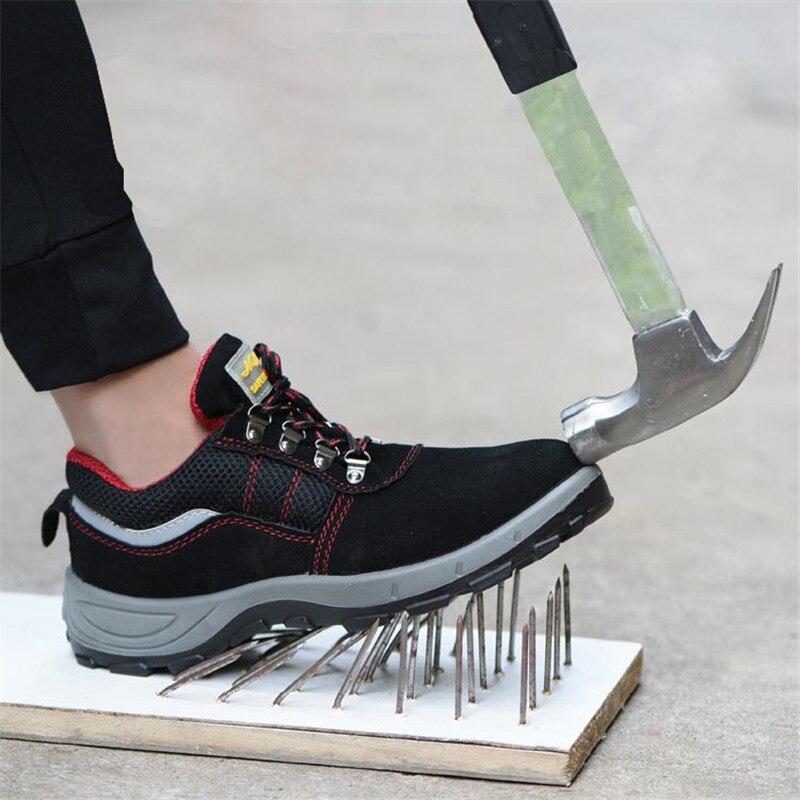 2019 Shoe Size Men's Winter Steel Toe Cap Work Shoes Protective Boots Men's Kevlar Midsole Unbreakable Safety Shoes