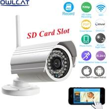 HI3518E 1 4 OV9712 CMOS OwlCat Outdoor Bullet WIFI IP Camera SD Card 720p 960P Wireless