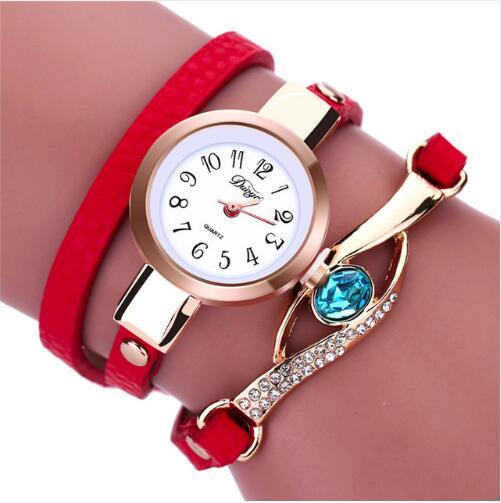 2019 New Fashion Casual Bracelet Watch Women Relogio Leather Band Rhinestone Analog Quartz Watch Female Clock Montre Femme