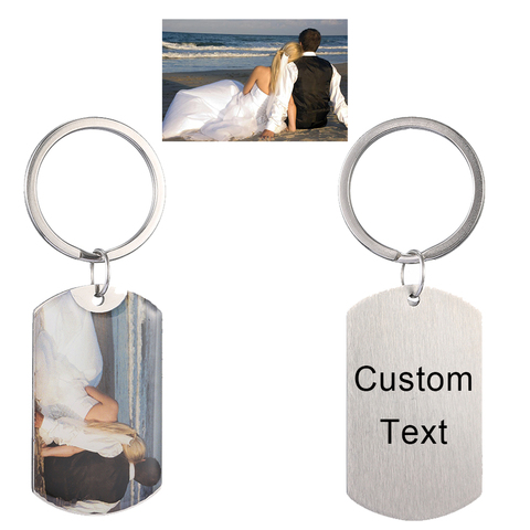 Personalized Custom Photo Text Keychain Best friends keyring Stainless Steel heart friendship lover jewelry gift for women girl Lahore