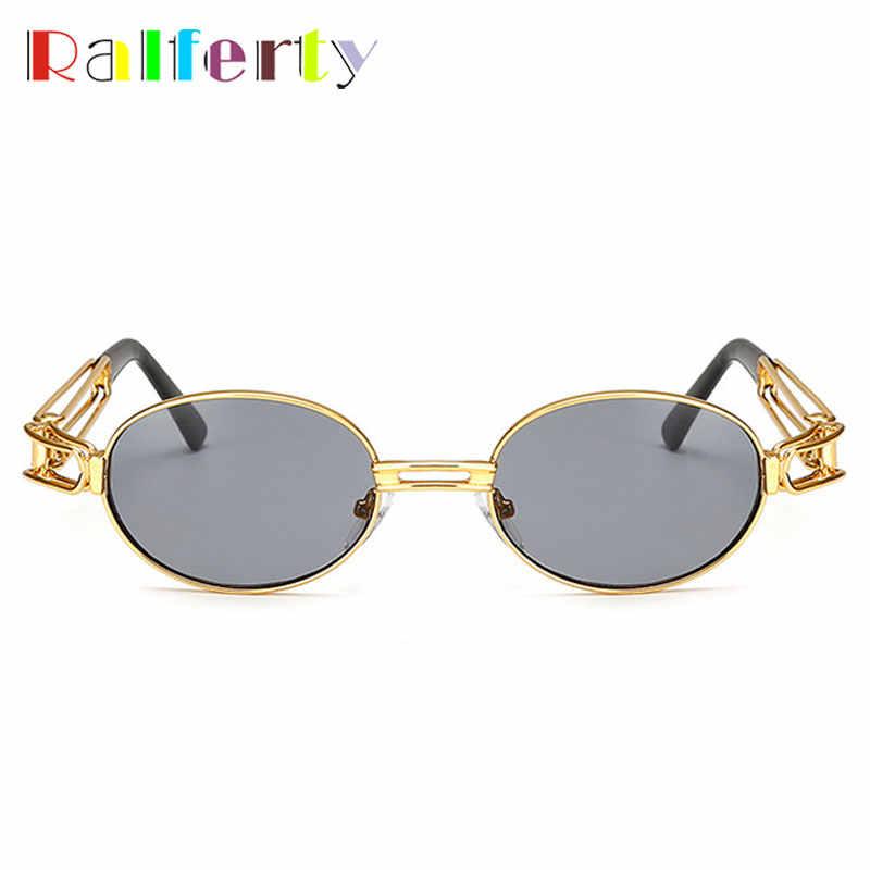 5423c3d1ac0cc ... Ralferty Retro Small Round Sunglasses Men Male Vintage Steampunk  Sunglass Women Hip Hop Gold Glasses Eyewear ...