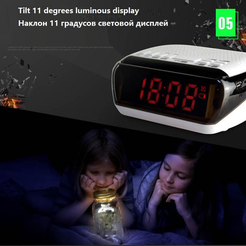Mini Portable Dual Alarm Clock Bluetooth Stereo Speaker LCD Digital FM Radio Bluetooth Wireless Speaker Support TF For Computer (12)