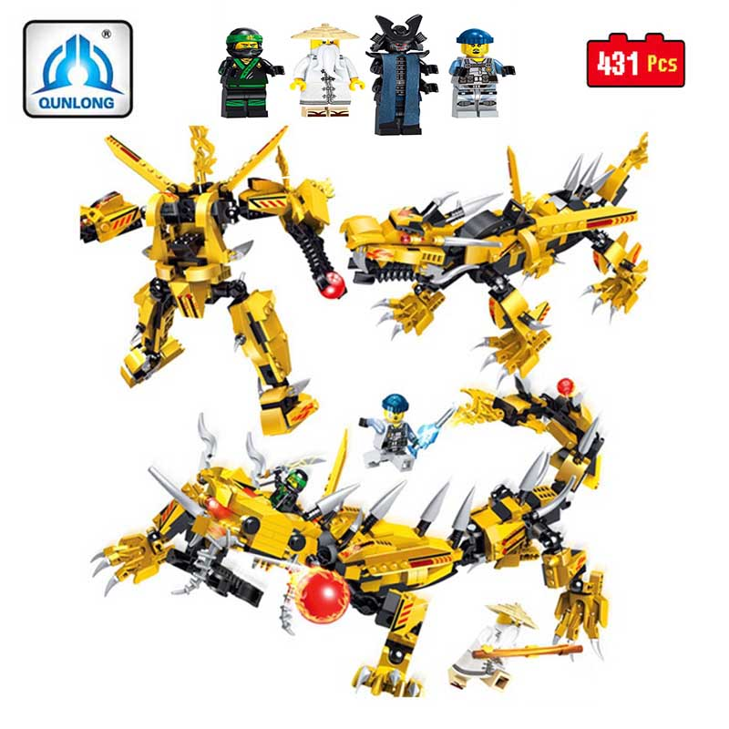 Ninjago Film Serie Fliegen Mecha DrachenDIY Bausteinziegelsteine Spielzeug Modell Geschenke Kompatibel Mit LegoINGly NinjagoINGl 5pcs lots 2017 film extraordinary corps mecha five beast hand collection model toy