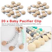 Lets Make 20pcs Pacifier Clip Making Wooden Soother Nursing Accessories Diy Dummy Chains Baby Teether