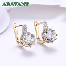 New Design 3 Color CZ AAA Clear Zircon Drop Earrings For Women Fashion Party Jewelry Gifts ska single earrings for women bat lotus flower jewelry monaco style aaa zircon gold color women drop earrings ae10597xply