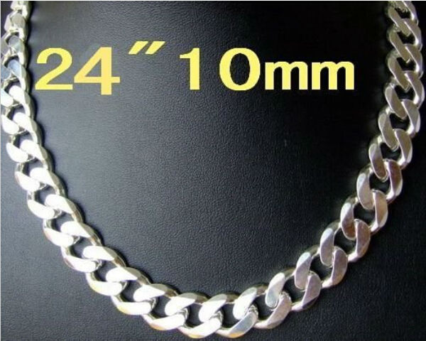 Wholesale 925 Sterling Silver Filled 8MM Classic Curb Necklace Chain Stunning