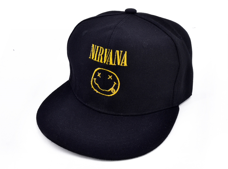 NIRVANA Rock Band Baseball Caps Nevermind Letter Embroidery Smells ... fbc687f0d84b