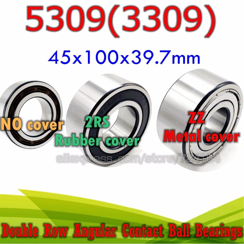 5309-2RS Premium Sealed Double Row Angular Contact Ball Bearing 45x100x39.7mm