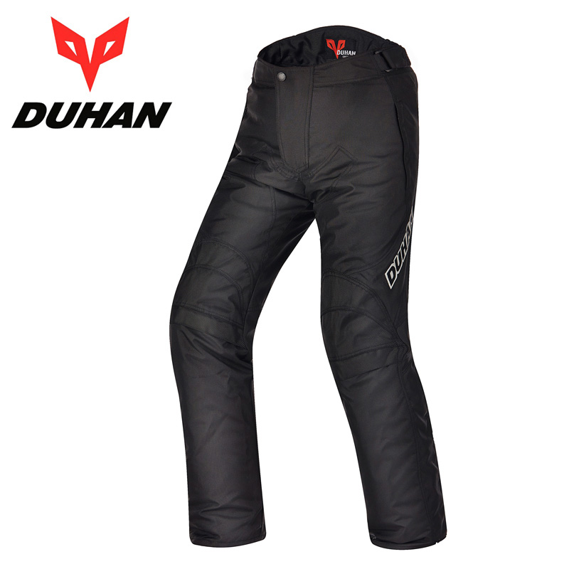 2017 Winter New DUHAN cross-country Motorcycle pants windproof warm motorbike pant trousers with cotton lining knee have protect