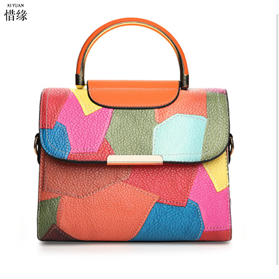 XIYUAN BRAND New Arrival fashion Tote Women Leather office Handbags Ladies Party Shoulder Bags Fashion Top-Handle colorful Bags
