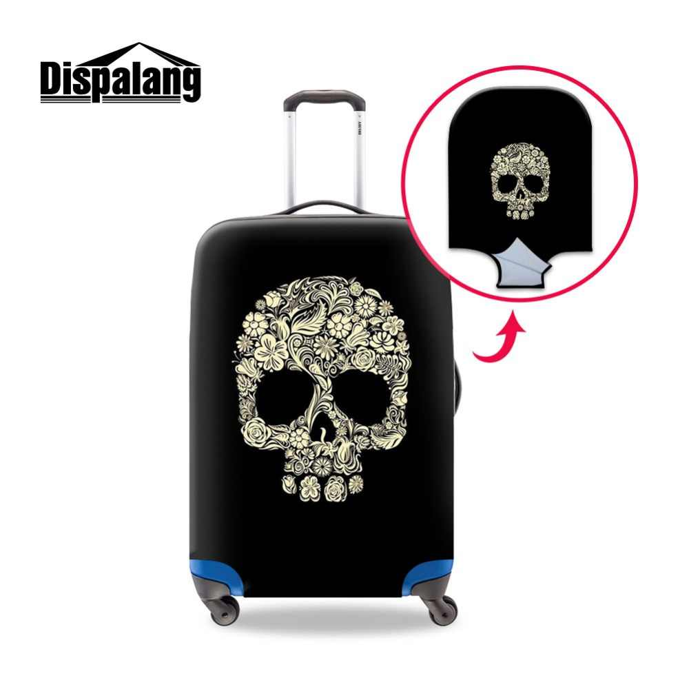 Dispalang Skull Print Luggage Cover Pattern Cool Elastic Suitcase Cover for Travel Accessories Fashion Quality Luggage Protector