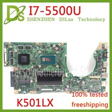 KEFU K501LX for ASUS K501LN K501LB A501L K501L V505L mainboard I7-5500U 4G RAM GTX950 video card motherboard Test work 100%