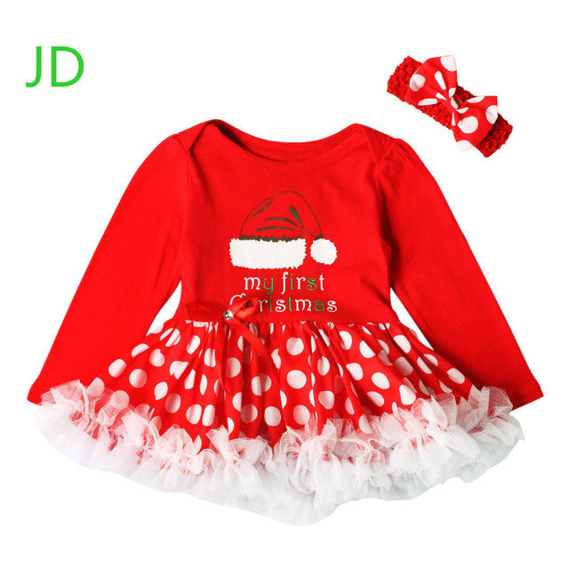 autumn red girls christmas stocking pattern dress lace puff romper dress christmas show girls dress - Girl Christmas Stocking
