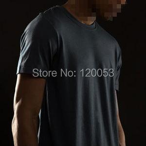 Image 1 - سعر نقطة الثقيلة جودة 200GSM 100% أستراليا ميرينو الصوف رجل قصير كم T قميص ، ميرينو الصوف T قميص ، الأوروبي صالح