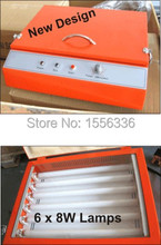 uv mini expsoure unit with 10 pieces pad printing polymer plate 100x215mm