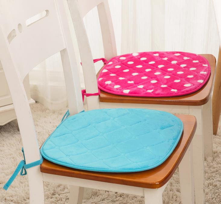 2PCS Office Chair Square Seat Pad Foam Indoor Dining Patio Cushion Tie On Garden