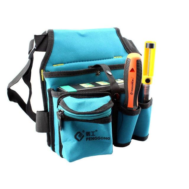 Multi bolsillos cintura utilidad cinturón organizador bolsa herramienta  ranura Destornilladores llevar herramienta electricista 993fb7598387