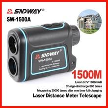 Nouvelle marque SNDWAY 1500 m numérique Laser mètre de distance télescope Golf Chasse Télémètre Range Finder Monoculaire 8X Trena SW-1500A