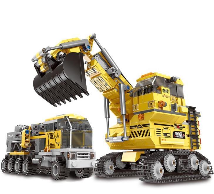 8 en 1 géant pelle blocs de construction ingénierie voiture camion technique Mine pelle briques jouets pour enfants