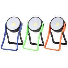 COB LED Flashlight Magnetic Working Stand Hook Light Lamp Torch Linternas Lamp By  AAA battery