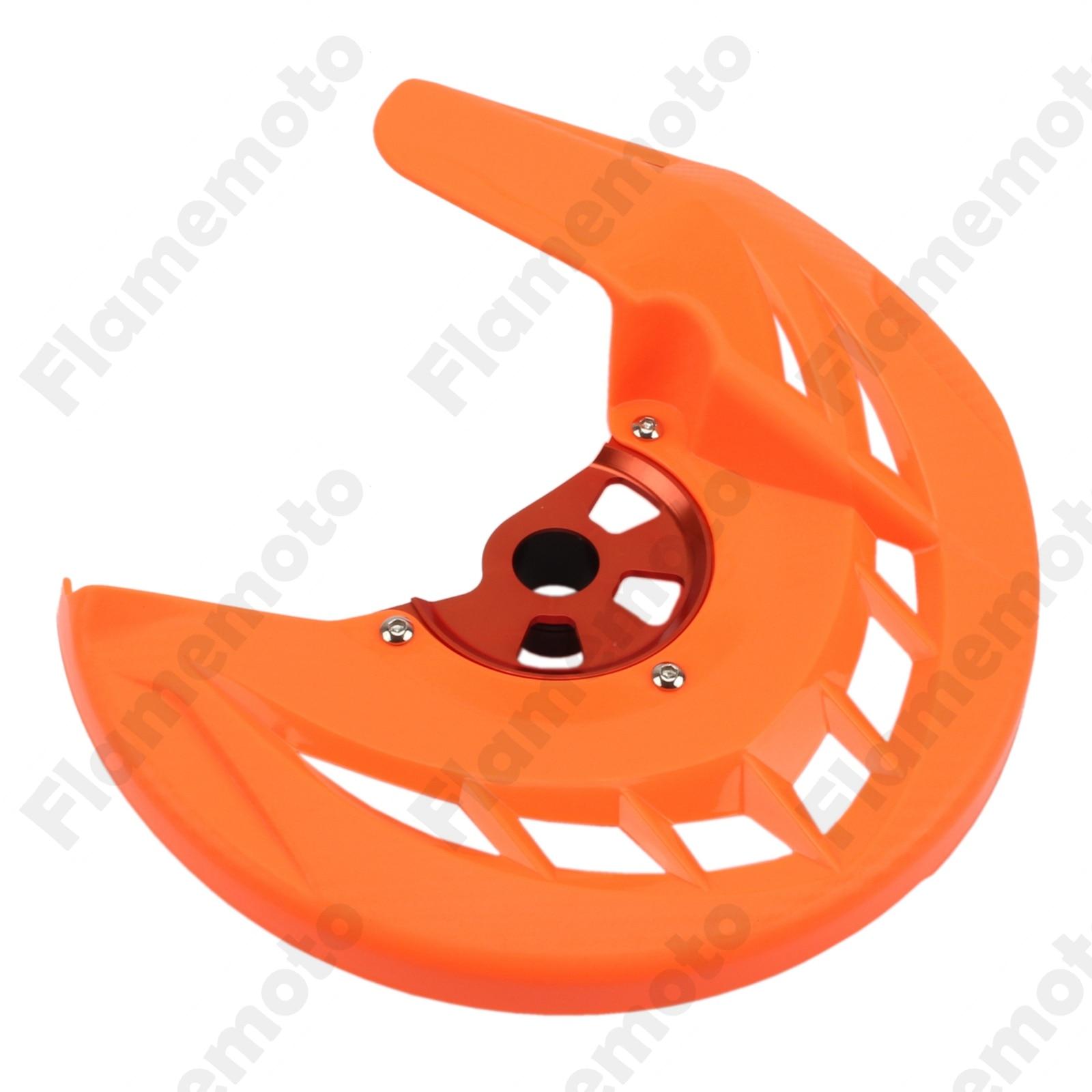 Orange accesorios de la motocicleta freno de disco delantero guardia cubierta pa