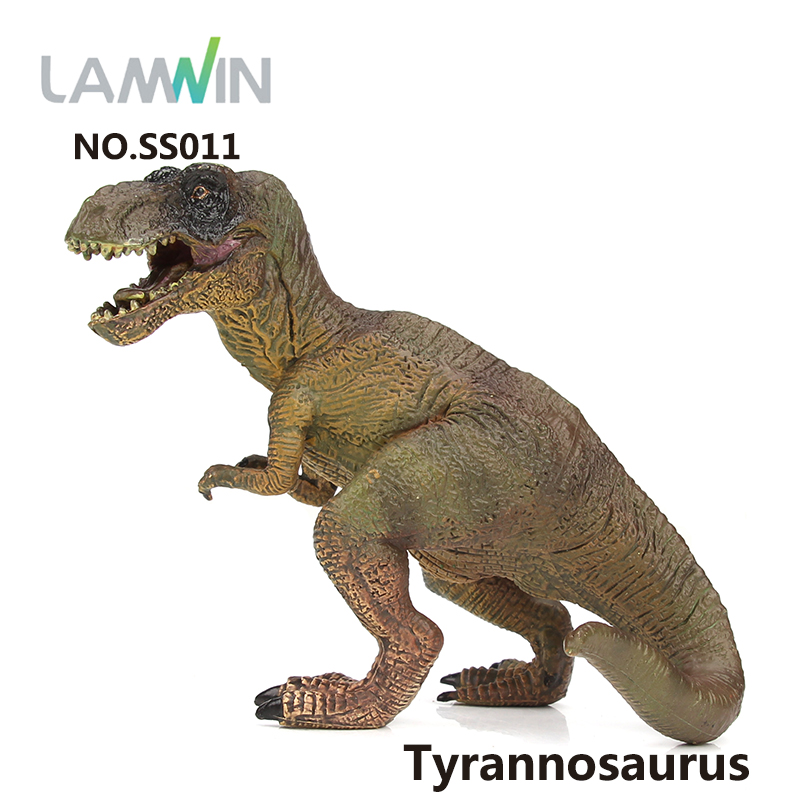 Lamwin Latest Kids Toys Action Figures Realistic Tyrannosaurus Model Dinosaur Toy Jurassic World Park Animal Collection lamwin 6pcs lot large dinosaur toy collection set jurassic world park hollow model figure free gift dinossauro egg