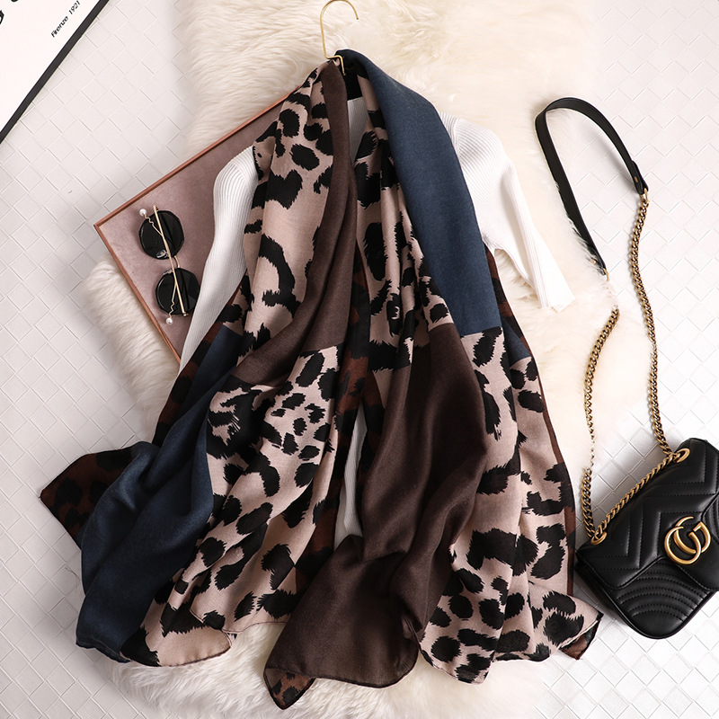 Design Leopard Print 2019 Women Scarf Fashion Pashmina For Lady Cotton Scarves Shawls And Wraps Neck Head Hijab