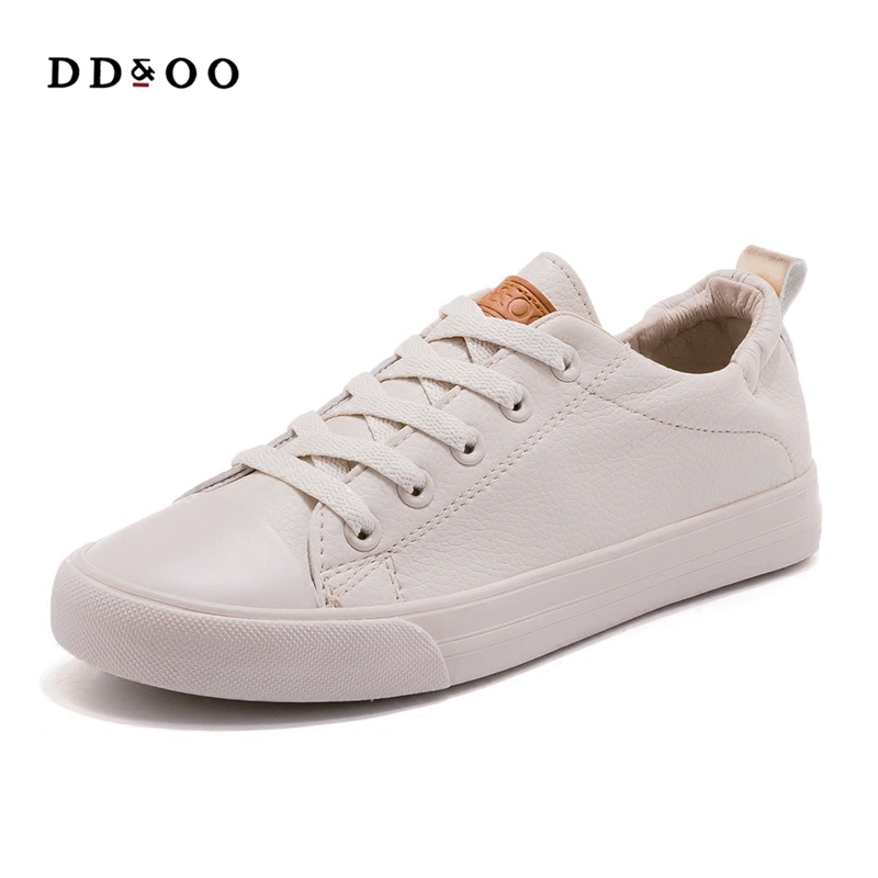 2018 autumn new fashion shoes woman casual flats PU leather classic solid women casual white Vulcanize shoes sneakers