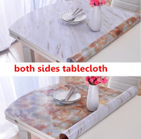 1MM Thickness Double Sides PVC Crystal Board Color Soft Glass Cloth Waterproof Imitation Marble Table Mats