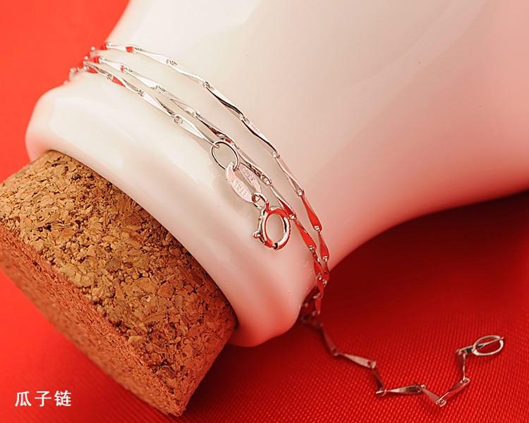 Fanqieliu 6 Style Real 925 Sterling Sølv Halskjeder Slim Tynn Snake - Mote smykker - Bilde 5