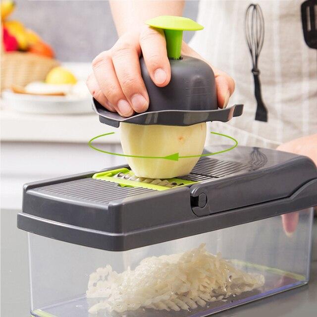 Konco Multi funcional Ferramenta de Frutas Vegetais Amassador de Batata ricer Vegetal Mandoline slicer Peeler Cortador