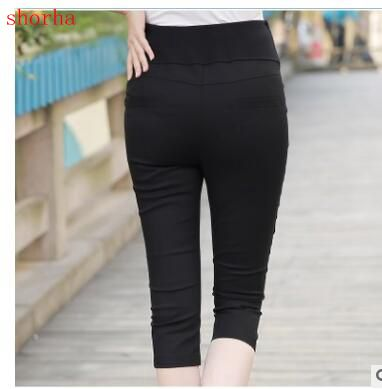 High Quality Maternity Belly Pants Causal Trousers for Pregnancy Wear Summer and Spring Seven points rousers for Pregnant women