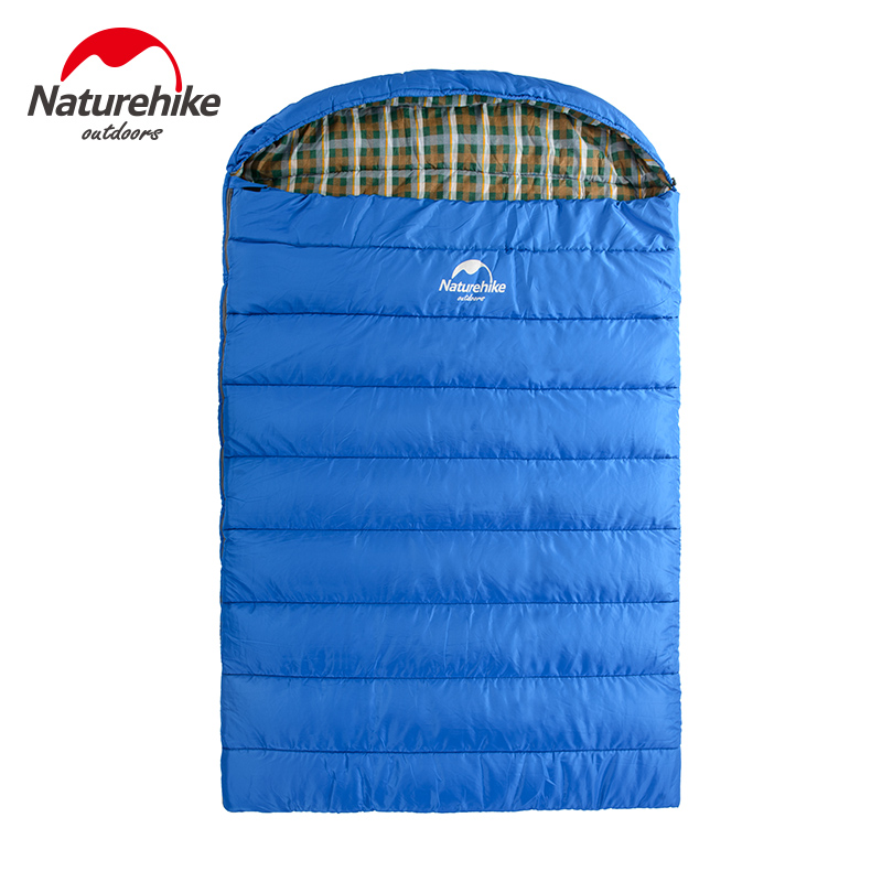 Naturehike Big Double Sleeping Bag 2-3 Person Family Sleeping Bags Envelope Style Spring And Autumn Camping Hiking Portable цена 2016