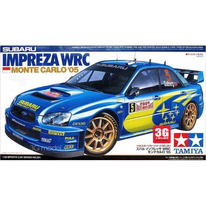 24281 Subaru WRC 2005 Car Assembly Model  Monte Carlo